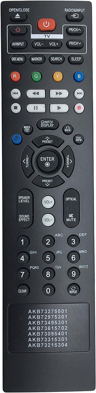 New VINABTY AKB73615702 AKB73095401 AKB73315301 AKB73215304 Replace Remote fit for LG BLU-RAY Disc Home Theater BD611 BP620 BP620C BH7220B BH7420P BH7520T LHB326 LHB306 BD630 BD640 BD651N BD651DN