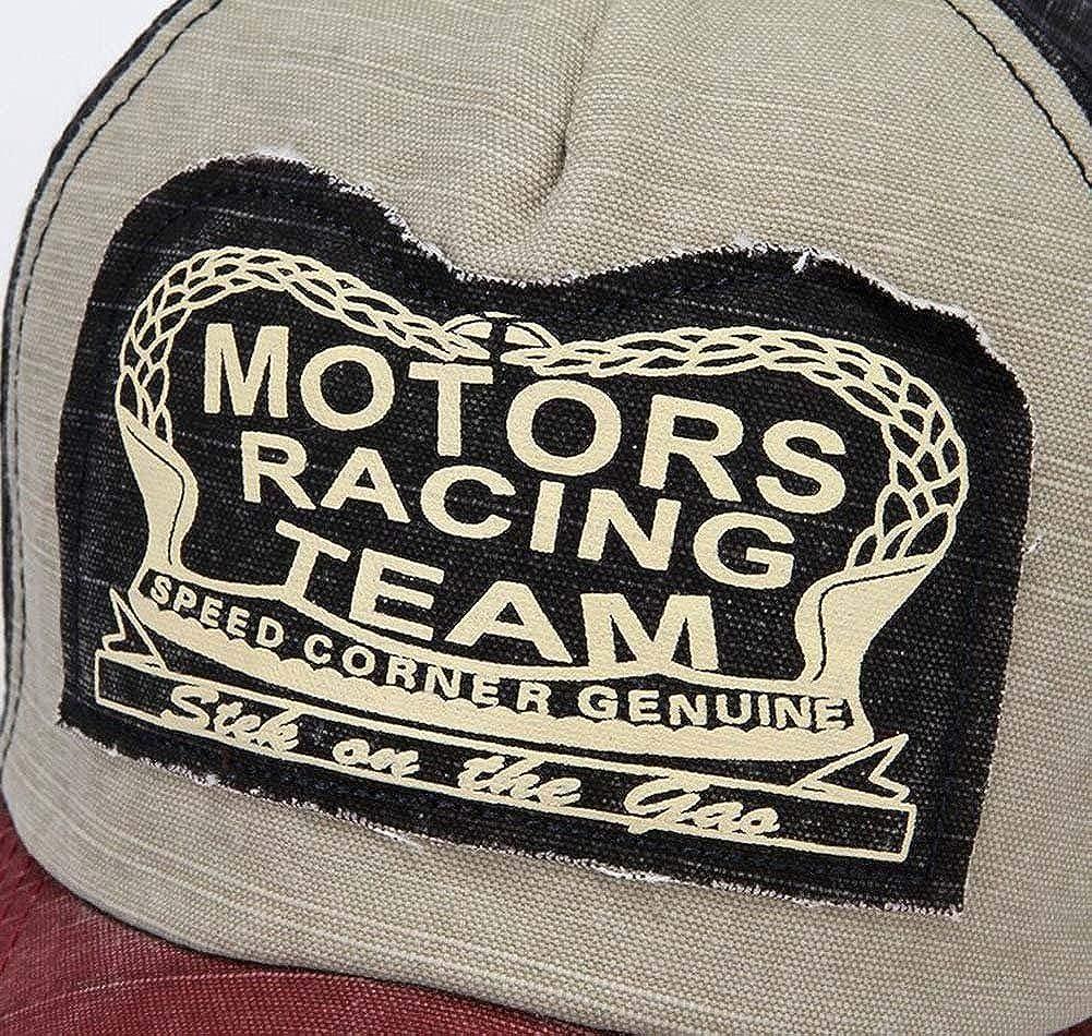 Minetom Vintage Casquette de Baseball pour Homme Femme Reglable Polaire Hip Pop Chapeau Unisexe Sport Snapback Trucker Motorcycle Cap