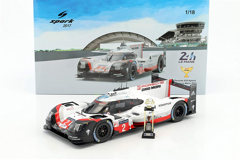18lm17 SPARK Porsche 919/Hybrid/ Color Blanco//Rojo//Negro /Winner Le Mans 2017/Coche en Miniatura de Colecci/ón