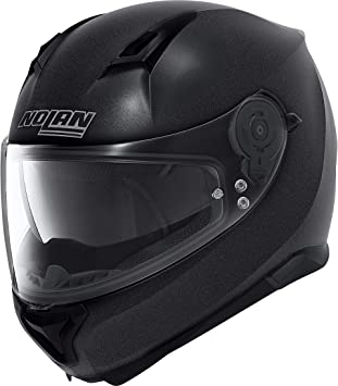 L 59 Motorrad Helm Nolan N90-2 Spezial N-COM Farbe:Schwarzmatt Graphite Gr