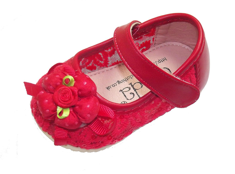 Cinda Baby Girls Flower Shoes 6 9 12 18 21 Months