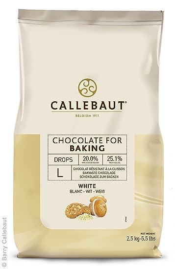 Callebaut - Gotas de Chocolate Blanco para Hornear 2,5kg
