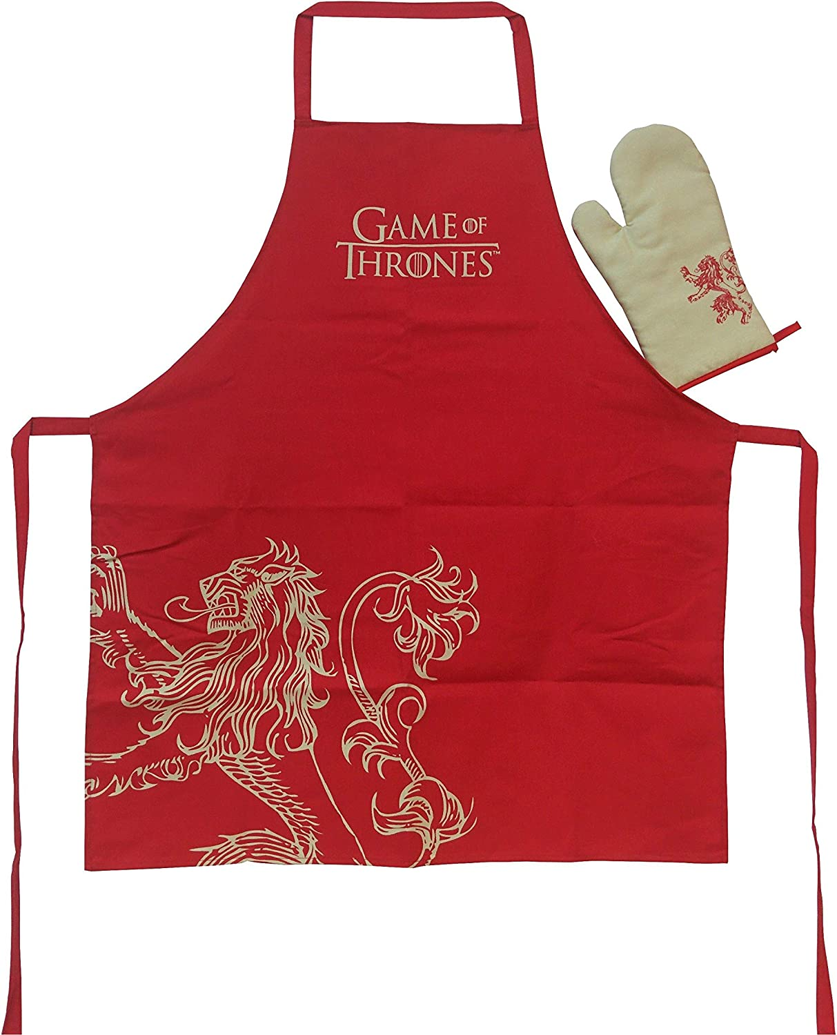 SD Toys Game of Thrones Lannister Apron /& Oven Mitt Set Free Shipping!