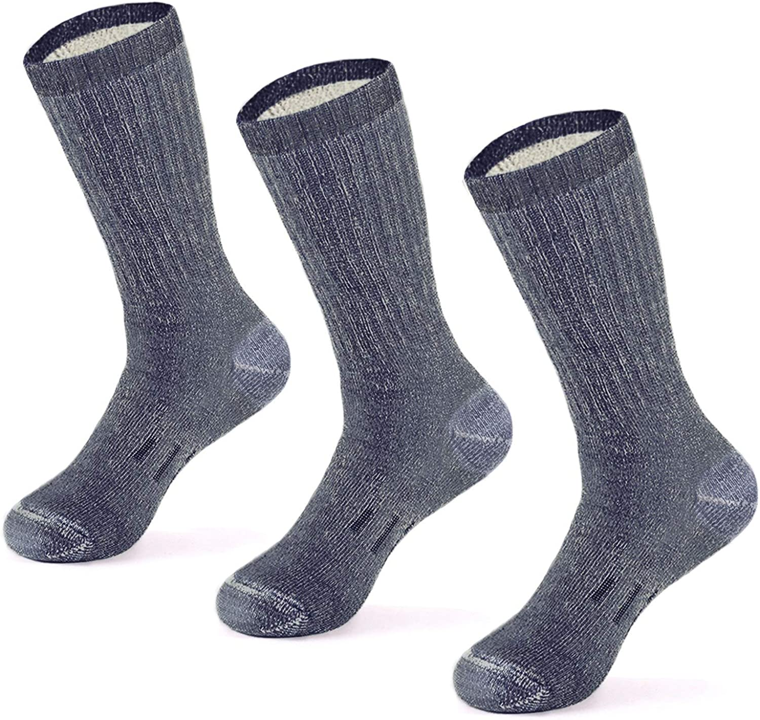 MERIWOOL Merino Wool Hiking Socks for Men and Women – 3 Pairs Midweight Cushioned – Warm n Breathable