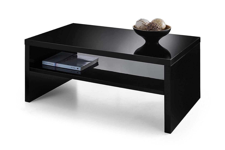 Julian Bowen Metro Couchtisch, Holz, Hochglanz, Holz, schwarz, 100x59x43 cm