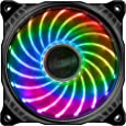 アイネックス RGB LEDファン [Aura Sync] [Mystic Light Sync ] [RGB Fusion] 対応 Vegas X7  120mm AK-FN093