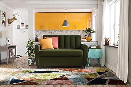 Brilliant Novogratz Brittany Sleeper Sofa With Memory Foam Mattress Green Linen Twin Caraccident5 Cool Chair Designs And Ideas Caraccident5Info