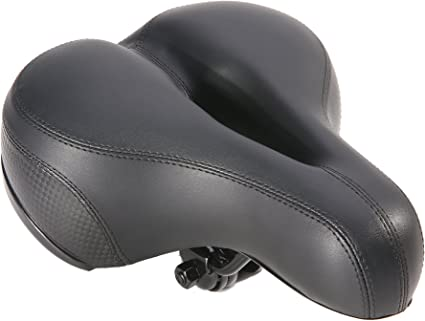 INBIKE Soft Bicycle Saddle Foam Cycling Seat Suspension Cruiser Wide Comfort Pad