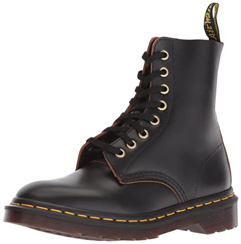 Dr. Martens Mens Archive Pascal 8 Eye Boot Black Vintage Mid Boots