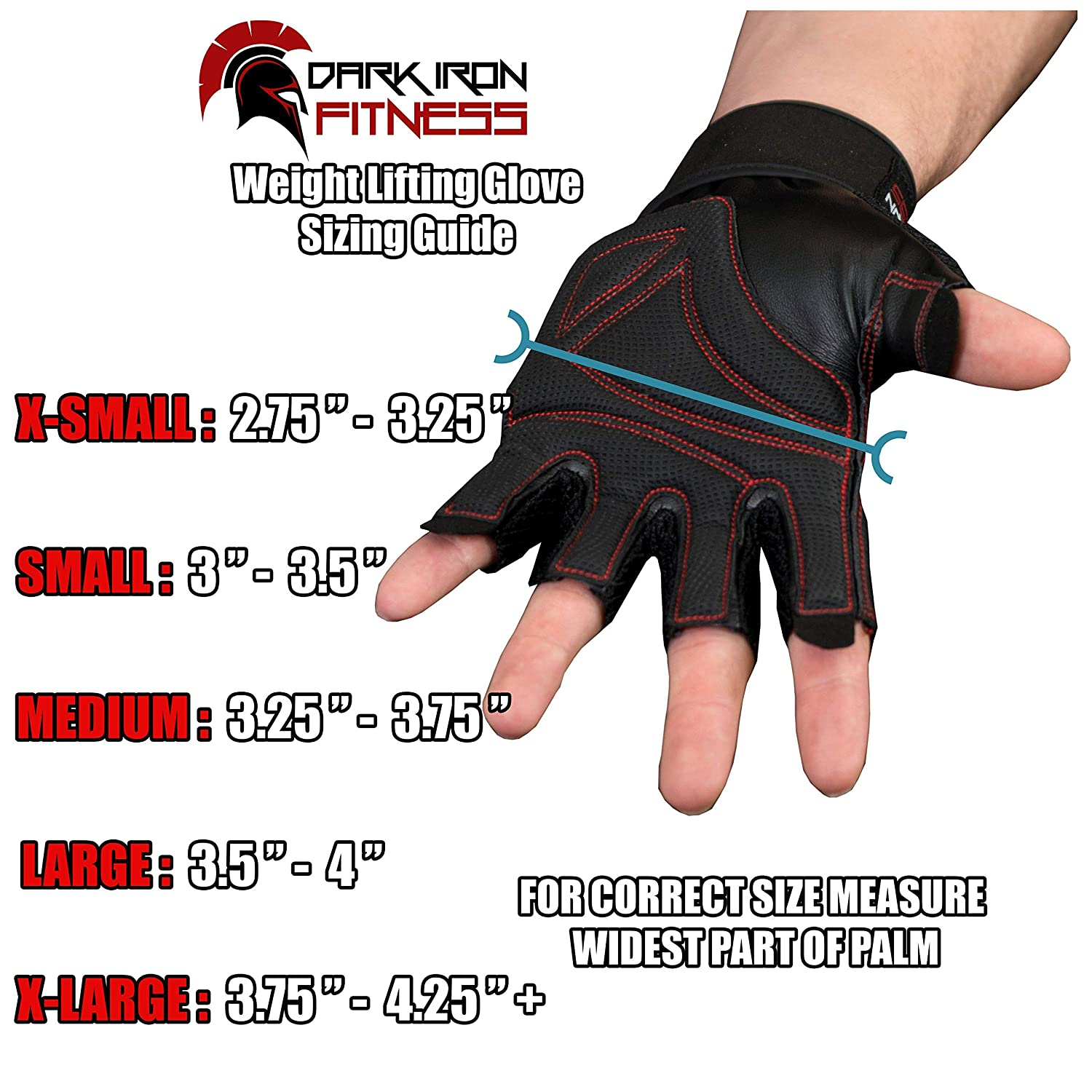 Bench Pressing with Gloves - Dark Iron Fitness' glove size chart