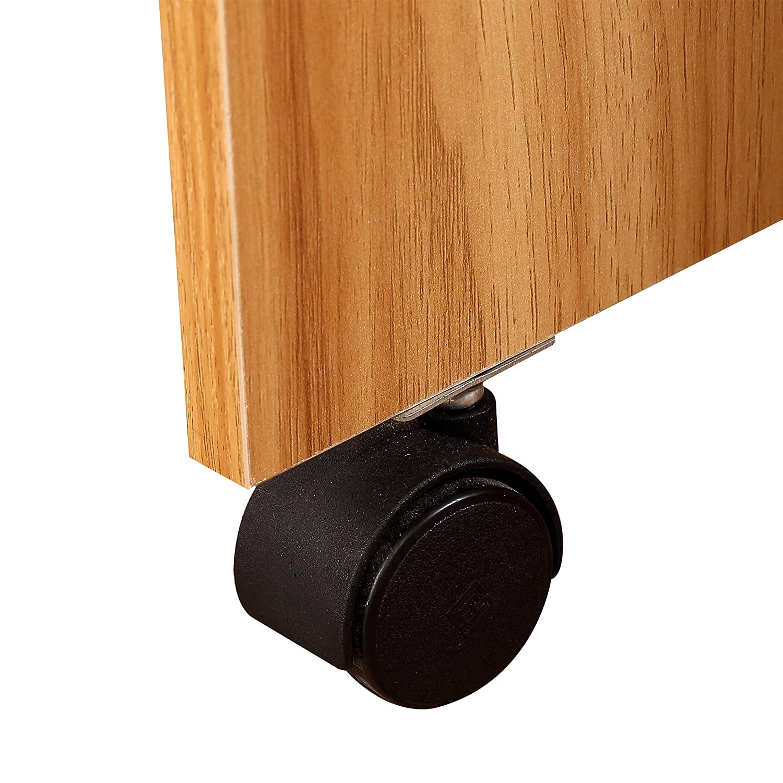 homcom Tavolo da Pranzo Design Moderno Pieghevole con Ruote 120 /× 80 /× 73cm