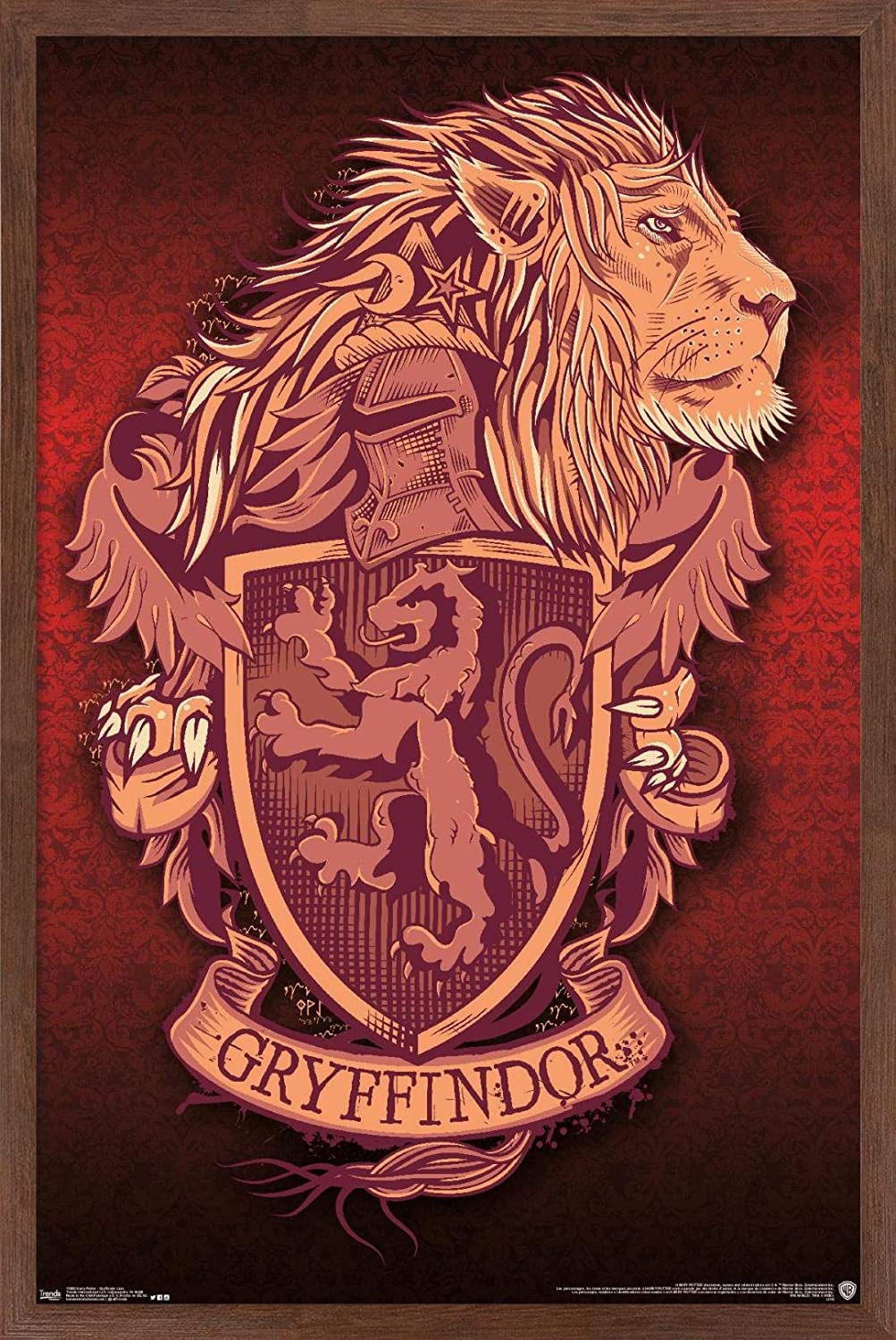 """Trends International The Wizarding World: Harry Potter-Gryffindor Lion Crest Wall Poster, 14.725"""" x 22.375"""", Multi"""