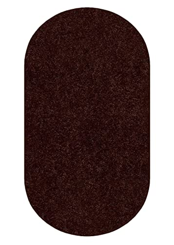 Koeckritz 3 X5 Oval Down Town Brown 25.5 oz 1 2 Thick Plush Cut Pile Indoor Carpet Area Rug