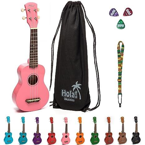 Amazon Hola Music Hm 21pk Soprano Ukulele Bundle With Canvas