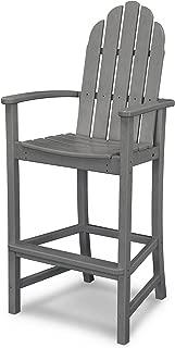 product image for POLYWOOD Adirondack Bar Height Chair, Slate Grey