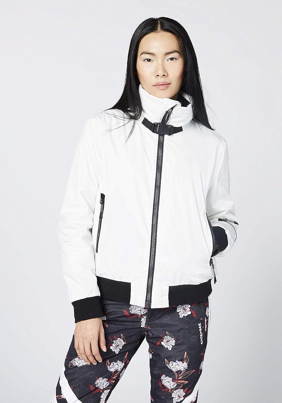 Chiemsee Damen Ski Blouson, Einfarbig mit Strickbund Jacke