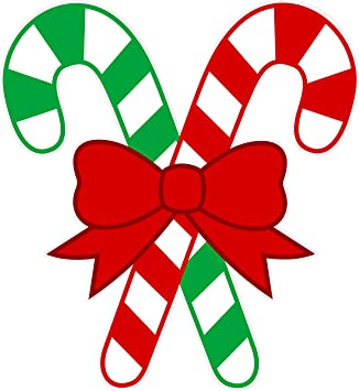 Nostalgia Decals Christmas And Holiday Wall Decor Candy Canes Small 12 X 11 Decal From The United States Automotive