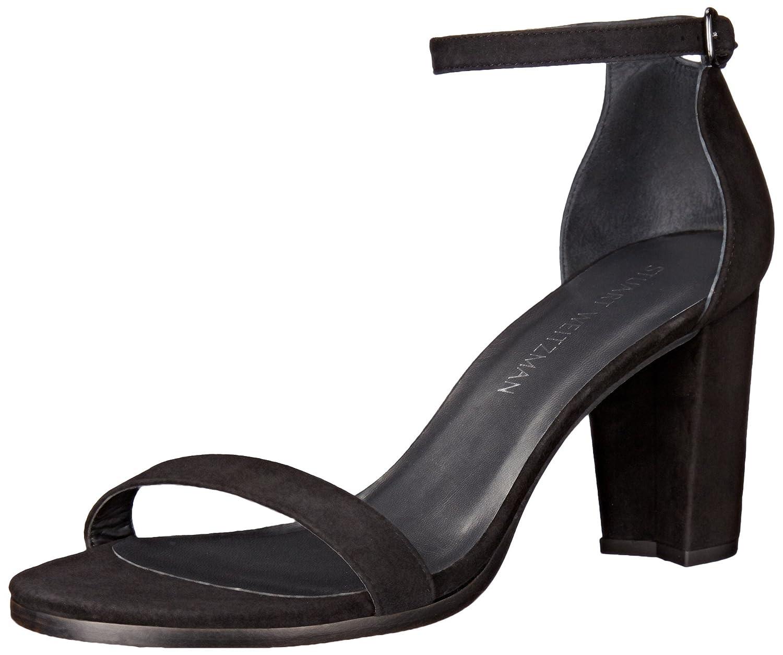 Stuart Weitzman Women's Nearlynude Heeled Sandal B0059CHEB2 4 B(M) US|Black
