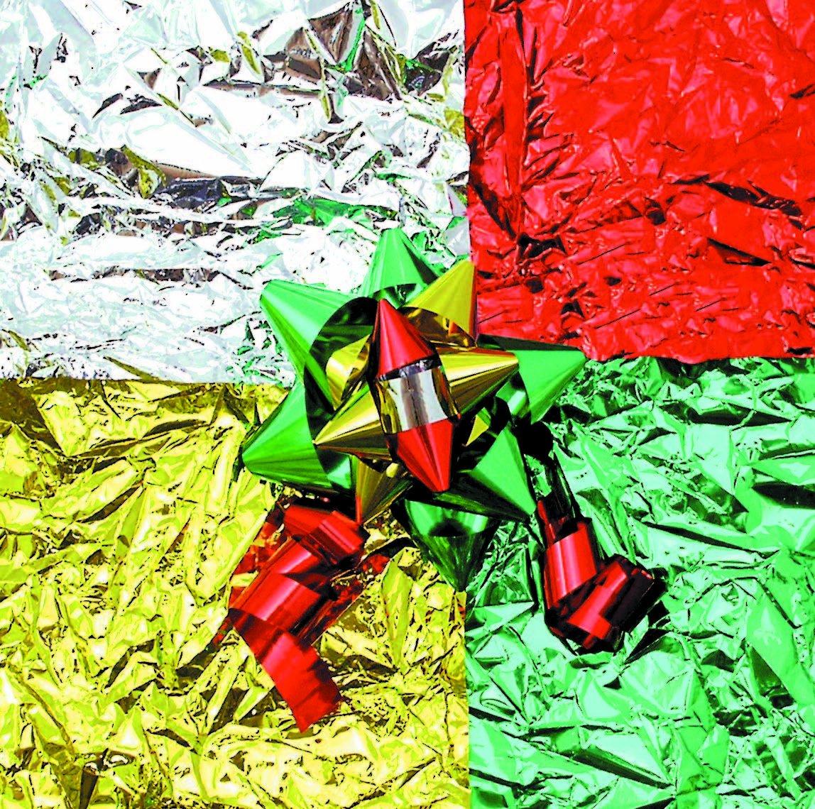 CI - Carta metallizzata assortita, 46 x 76 cm, 12 pezzi, colore: rosso/verde/oro/argento 5861-8