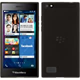 PhoneNatic Custodia BlackBerry Leap Cover nero trasparente Leap in silicone + pellicola protettiva