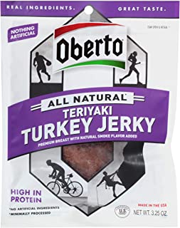product image for Oberto Natural Style Teriyaki Turkey Beef Jerky, 3.25 Ounce -- 8 per case.