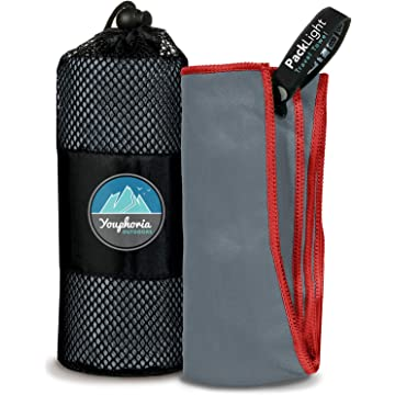 powerful Youphoria Outdoors Microfiber Quick Dry Travel Towel - Ideal Fast Drying Towels for Travel