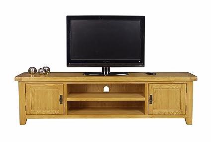 Arklow Oak Extra Large Tv Stand Oak Tv Cabinet Living Room Storage