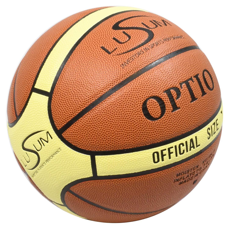 Lusum Optio - Balón de Baloncesto para Interiores y Exteriores ...