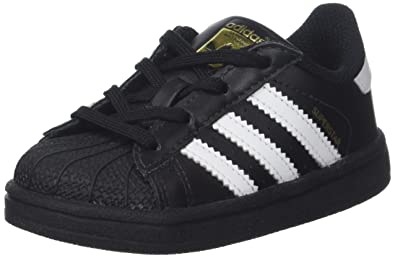 adidas Superstar, Baskets Mixte bébé, Noir (Core Black Footwear White), 19