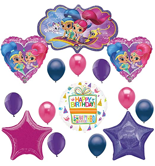 Amazon Shimmer And Shine Love Balloons Party Supplies Decorations Toys Games