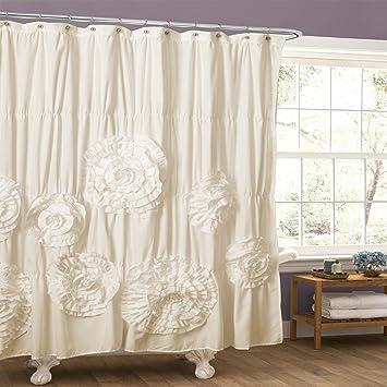 Amazon.com: Lush Decor Serena Shower Curtain, 72 by 72-Inch, Ivory ...