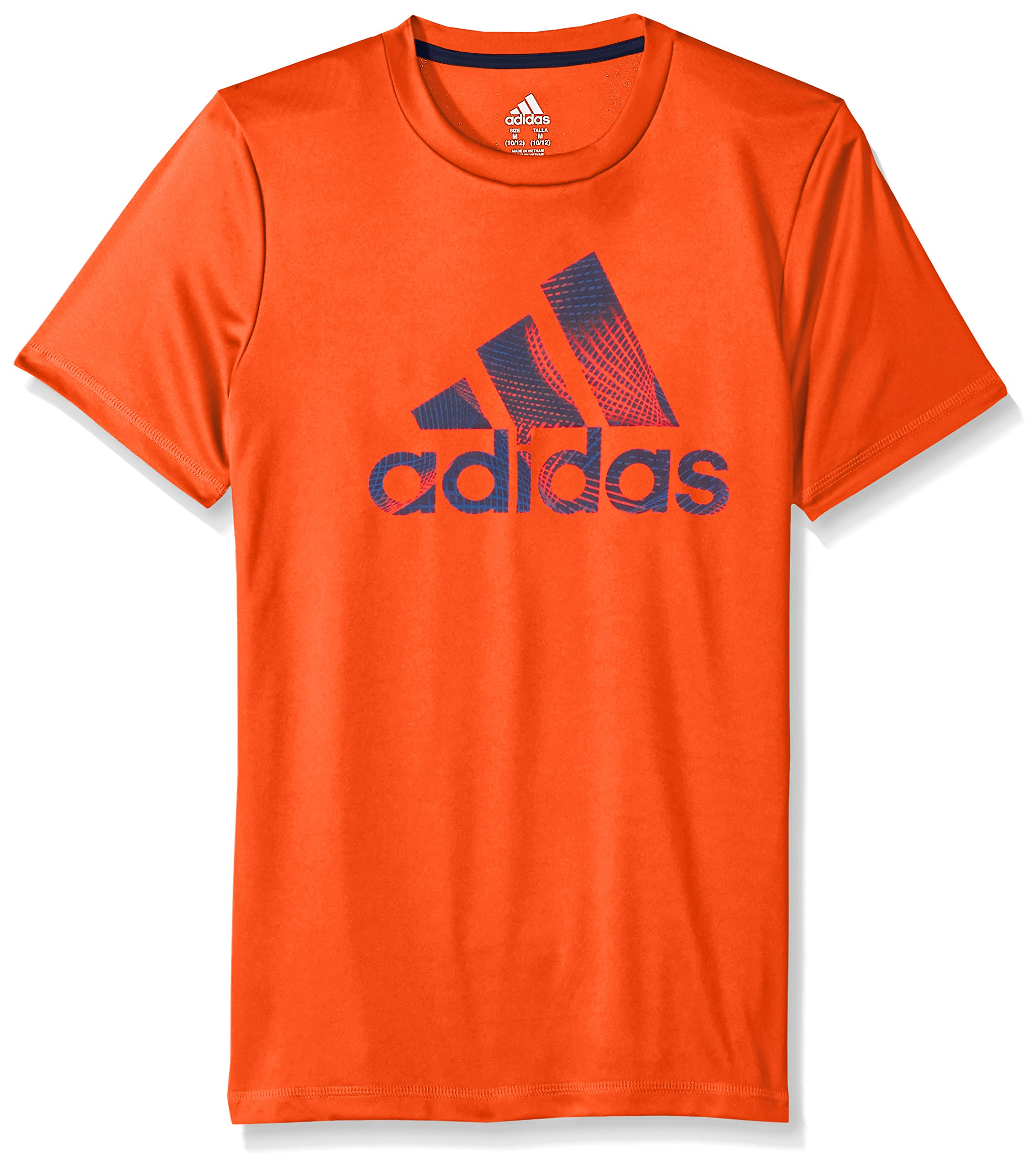 Adidas Boys' Big Short Sleeve Logo Tee Shirt, Solar Red, L (14/16)
