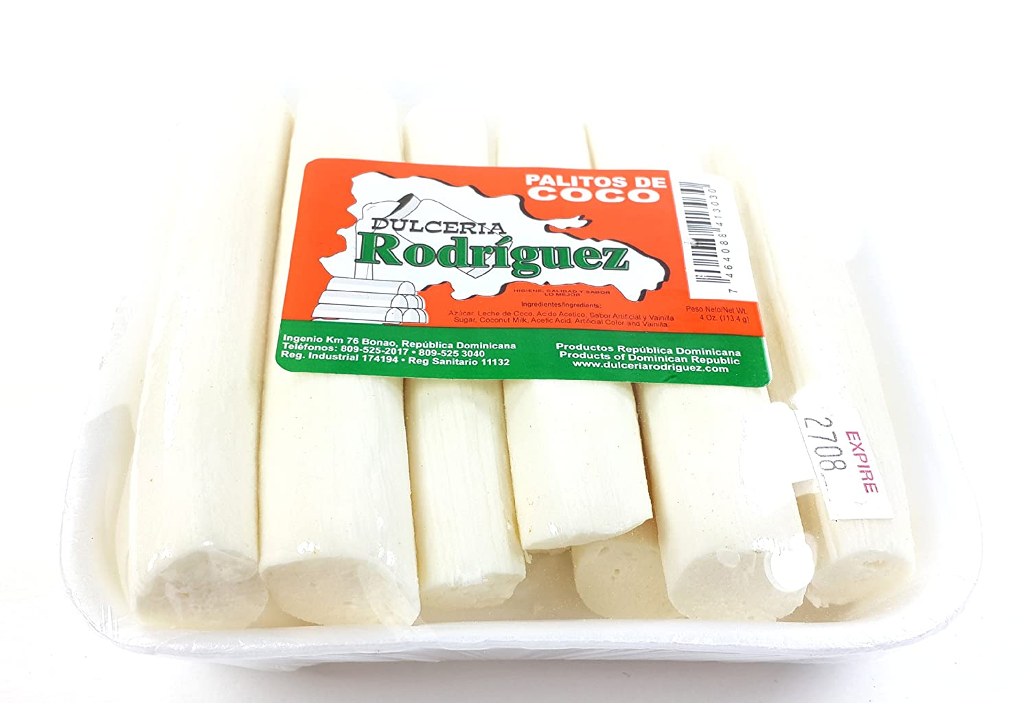 Amazon.com : Dominican Sweet Coconut Sticks Dessert Palitos de Coco Dulce 3 Pack : Grocery & Gourmet Food