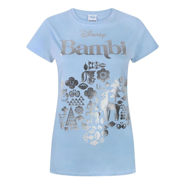 T Shirt Et Disney FemmeVêtements Métallisé Bambi 3TFJlKu1c