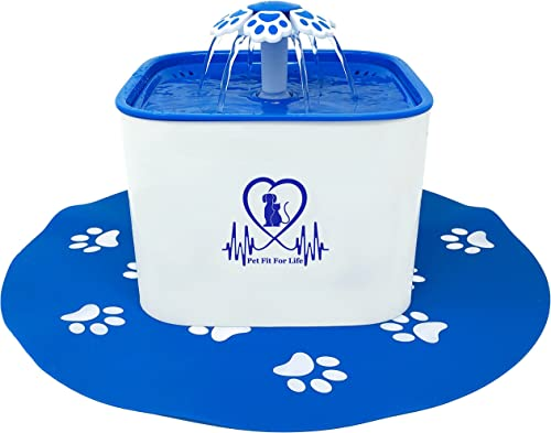 Pet Fit For Life Water Fountain Dispenser Plus Bonus Cat Wand and Mat