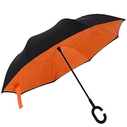 3fce082e36c1 Amazon.com : Inverted Double Layer Windproof UV Protection Reverse ...