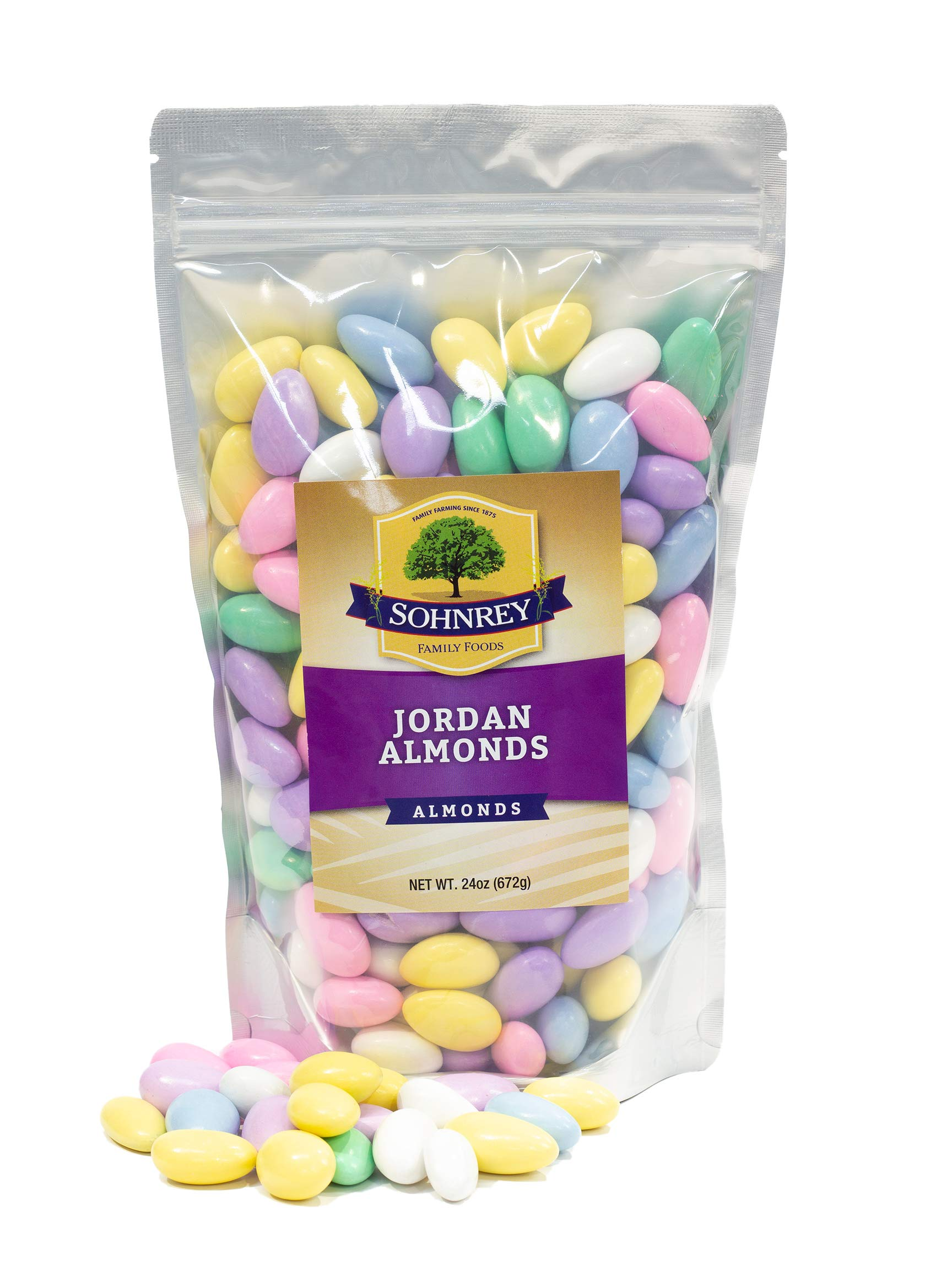 Jordan Almonds Wedding Holiday Party Favor Candies in Colorful Assorted Pastel Mix (24 oz) by Sohnrey Family Foods ... by Sohnrey Family Foods