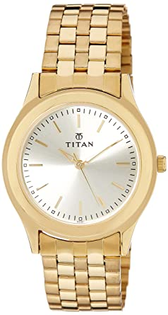 0eb7e6778 Image Unavailable. Image not available for. Colour  Titan Analog Gold Dial Men s  Watch ...