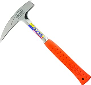 product image for Estwing Rock Pick - 22 oz Geological Hammer with Pointed Tip & Shock Reduction Grip - EO-22P, Orange