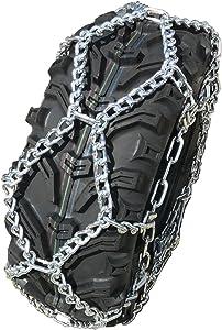 TireChain.com Suzuki LT-F400F King Quad FS 25x10-12 Rear NOT Studded Diamond ATV Tire Chains