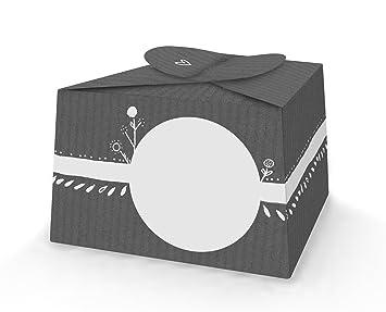 10 Kleine Pralinenschachteln Kartonagen Kuchenschachteln Zum Selbst Befüllen Und Beschriften Im Retro Design Grau Für Süßigkeiten Gastgeschenke