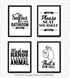 Amazon Price History for:Funny Bathroom Decor Wall Art - Set of 4 UNFRAMED 8X10 Prints