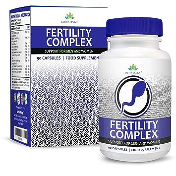 Vitaminas para Fertilidad - Suplemento Para Hombres y Mujeres - Con Zinc, Magnesio, Hierro, Calcio, Biotina, Vitamina BC D3-90 Tabletas (Suministro ...
