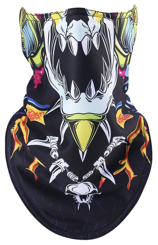 QINGLONGLIN - Maschera Invernale da Sci Mezzo Volto Collo Protezione per Motociclista Ciclismo Passamontagna Cappello Multifunzionale Antivento contro Freddo Unisex - Modello 1