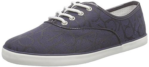 Calvin Klein rea CK Logo Jacquard/Patent - Zapatilla Baja Mujer: Amazon.es: Zapatos y complementos