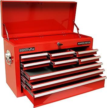 Caja de herramientas con 9 cajones y cerradura, color rojo, de la ...