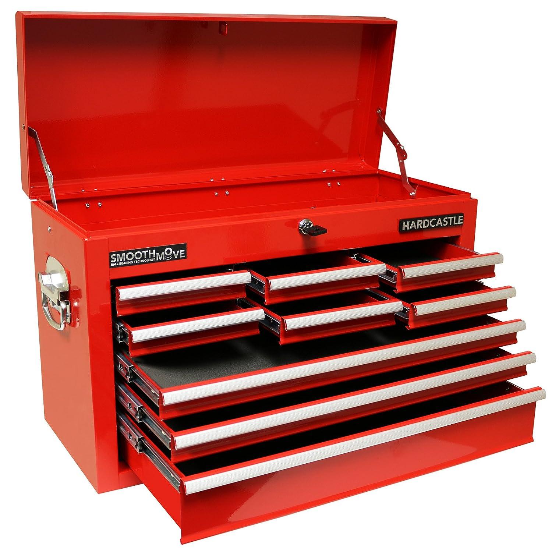 Hardcastle 9 Drawer Red Lockable Topchest Tool Box: Amazon.co.uk ...