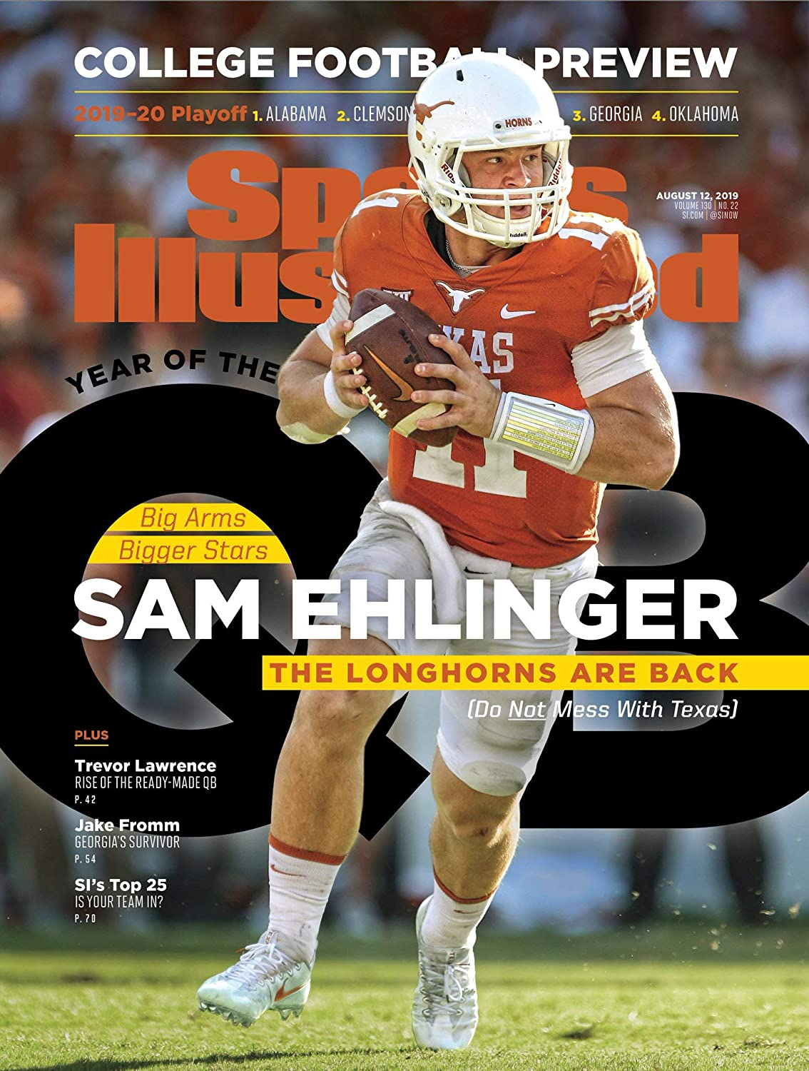 Amazon Com Fan Prints Sam Ehlinger On Huge 13 X17 Si 2019 College Football Preview Cover Sports Outdoors