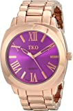 TKO ORLOGI Women's Big Purple  Face Rose Gold Boyfriend Oversized Watch