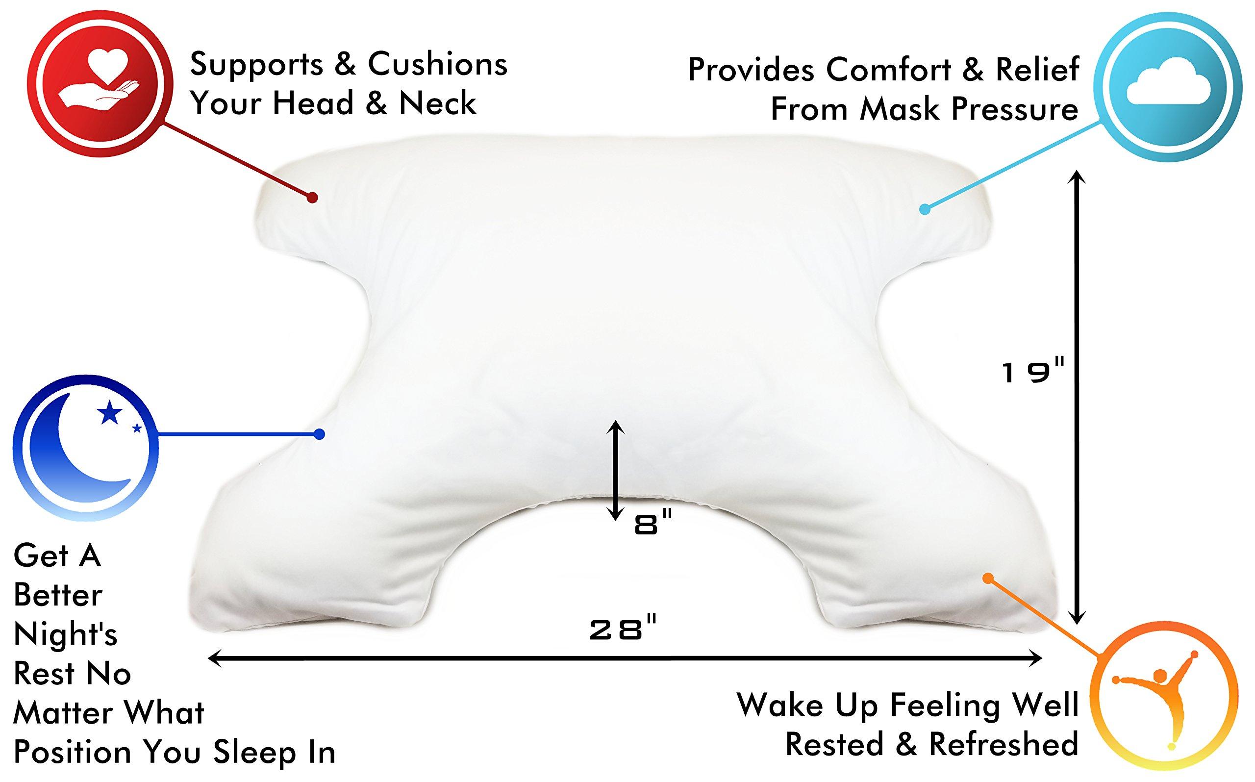 Sleep Comfort Butterfly Pillow – Neck Head Shoulder Pressure Pain Relief